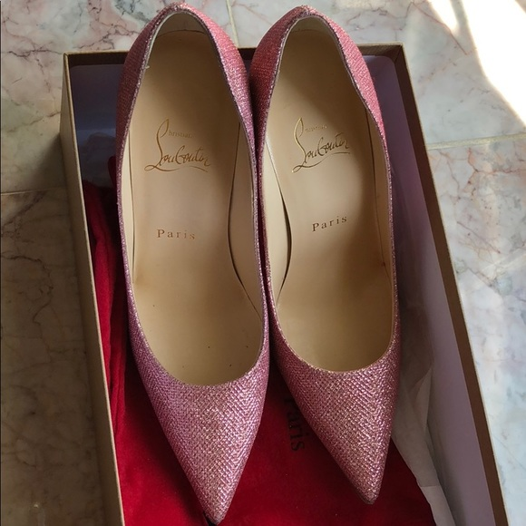 75854034e6d Christian Louboutin Shoes - Christian Louboutin Decoltish Glitter Heels